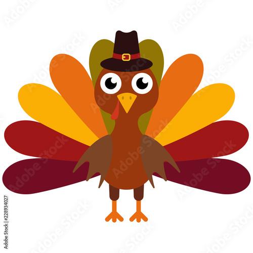 Fotografia Vector illustration of a thanksgiving turkey