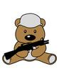 krieg soldat helm waffe maschinengewehr bär süß niedlich sitzen klein comic cartoon clipart design teddy grizzly grizzlybär sitzend dick lustig