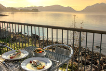 Romantic Dinner At Loch Linnhe, Kentallen, Scotland, UK