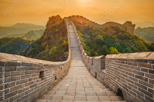 Wall Murals Great Wall The beautiful great wall of China - Jinshanling section near Beijing