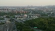 Aerial Pan Around From Pelham Park in the Bronx to NYC Skyline