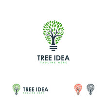 Tree Idea Logo Designs Concept...
