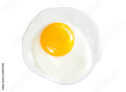 Canvas Prints Egg Fried egg isolated on white background