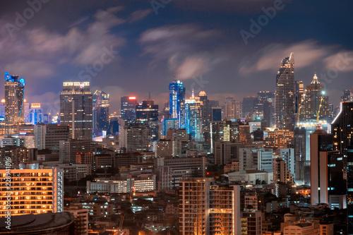 Foto  Aerial view of Chong Nonsi, Sathorn, Bangkok Downtown