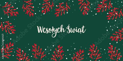 Fotografie, Obraz  Kartka na Boże Narodzenie