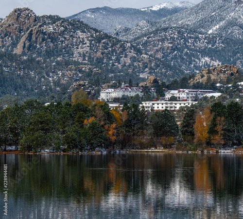 The Infamous Stanley Hotel on a Fall Morning Estes Park-Colorado Canvas Print