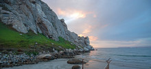 Sunset At Morro Rock On The Ce...