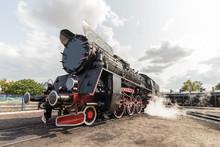 Old, Retro Steam Locomotive