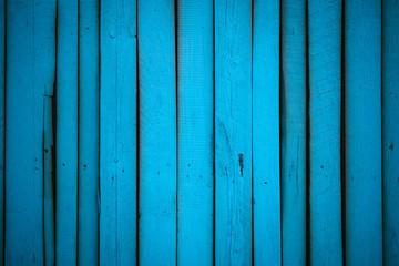 wooden fence blue color