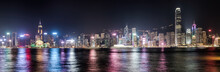 Hong Kong Skyline At Night. Pa...