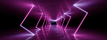 3D Rendering Neon Lights Backg...