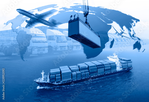Fotografía  Management logistics of Industrial Container Cargo for Import Export business