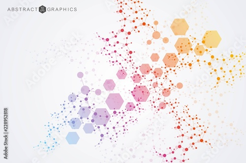Structure molecule and communication Wallpaper Mural