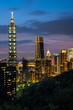 The beautiful view of Taipei, Taiwan city skyline