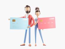 3d Illustration. Credit Card B...