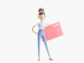3d illustration. credit card banking concept