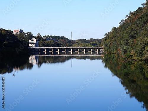 Deurstickers Dam 越戸ダム