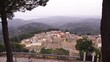Wide spanning landscape view of Chlomatiana in Corfu Greece near Mesoggi with traditional mountain houses