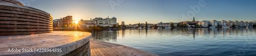 Montage in der Fensternische Stockholm The round wooden bridge