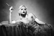 Leinwandbild Motiv woman retro flapper style