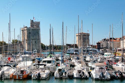 Poster Poort Le port de la Rochelle et ses deux tours