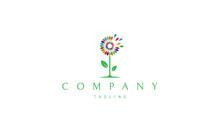 Dandelion Color Vector Logo