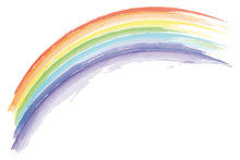 Watercolor Rainbow Isolated On...