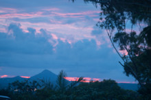 Sunset Over Noosa Heads With Mt Pomona