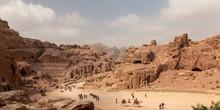 Blick Auf Das Gebirge Der Felsenstadt Petra, Jordanien