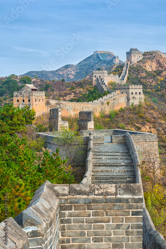 Photo sur Toile Muraille de Chine The beautiful great wall of China