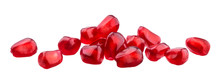 Pomegranate Seeds Isolated On White Background