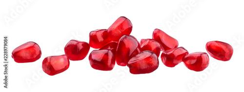 Fototapeta Pomegranate seeds isolated on white background