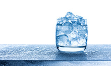 Water With Crushed Ice Cubes I...