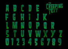 The Creeping Text Horror Alphabet - 3d Illustration