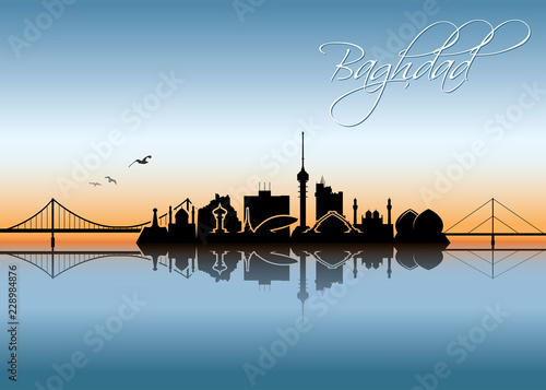 Valokuva  Baghdad skyline - Iraq