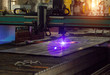 Bench for modern automatic plasma laser cutting of metals, plasma cutting with laser and laser, equipment