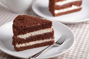 Fototapeta Sour cream cake