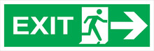 Fire Emergency Exit Sign