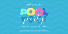 Pool Party Background With Inf...