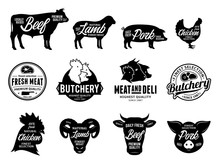 Vector Butchery Logo And Farm ...