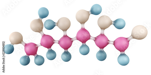 3d Illustration of Glucose molecule isolated on white, C6H12O6 Canvas Print