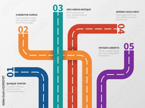 Obraz na plátně Road infographic