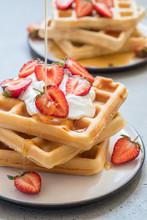 Wholegrain Waffles With Strawb...
