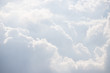 canvas print picture - white cloud background and texture. white sky in cloudy day.