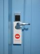 do not disturb hotel sign on door lock