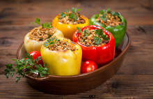 Stuffed Peppers With Meat And ...