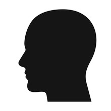 Human Head Profile Black Shado...