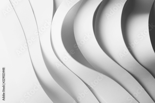 Fotografía  Geometric composition with curved elements, abstract background