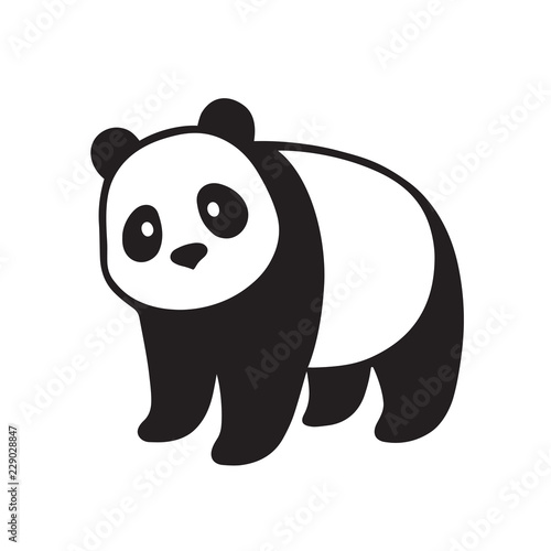 Giant panda illustration Slika na platnu