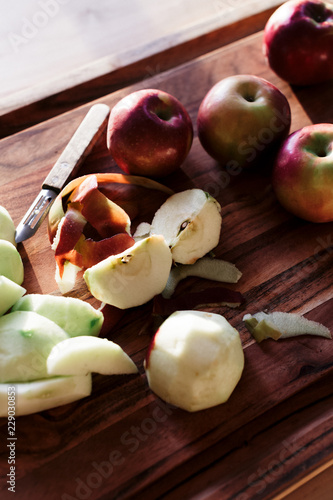 Tuinposter Eten Apple Pie Making